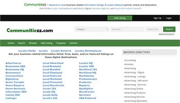 Communitiezz.com - A national to local business related information listings marketplace.
